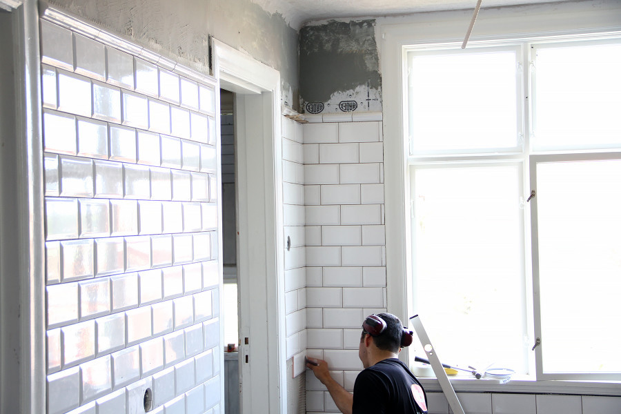 Kakel Workshop : Gestrike magasinet nytt badrum på dagar